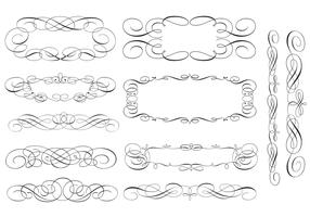 Swirly Scroll Frame and Border Vector Pack