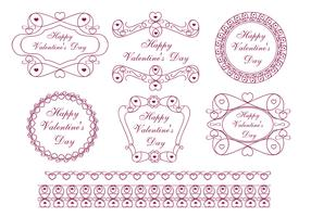 Happy Valentine's Day Label Vector Pack