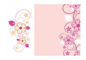 Floral Swirls Wallpaper Vector Pack