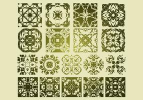 16 Antique Floristic Vector Patterns