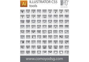 Illustrator CS5 tool icon Vectors