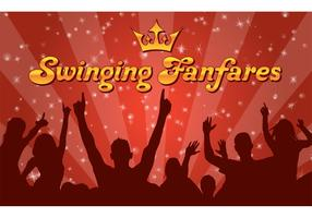 Swinging Funfares Wallpaper Vector