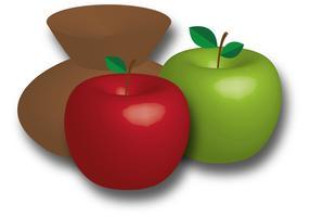 Maçãs Fruit Vector
