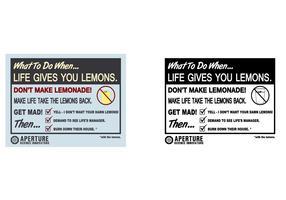 'If life gives you lemons' Vector