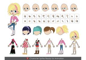 FEMALE Vector Characters - .ai &.eps formats