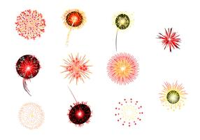 Yellow and Red Fireworks Vectors
