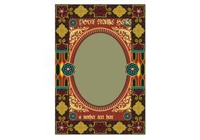 Free Ornament Frame Vector for Invitation or Poster