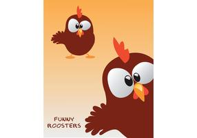 Free Funny Rooster Vector!!!