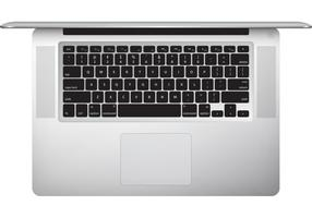 macbook pro (top view) free vector