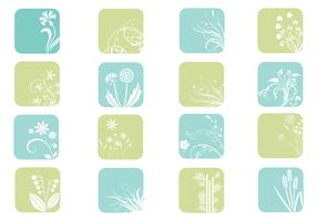 Floral Icon Vector Pack