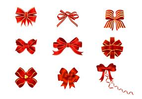 Red Bows Vector Pack