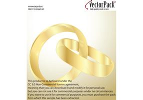 Wedding Gold Rings Vectors
