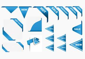 Corner Ribbons Vector Pack
