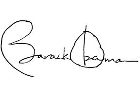 Most powerful autograph in the world. Barack Obama Vector