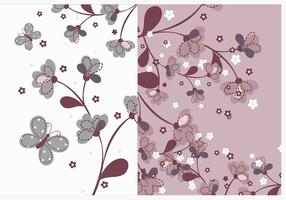 Natural Flower Wallpaper Vector Pack