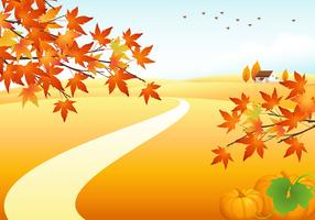 Autumn Landscape Vector Background