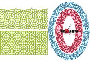 Seamless mughal pattern brush