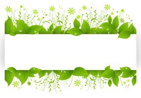 Leafy Banner Vector Pack