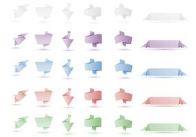 Origami Banner Vector Pack Two