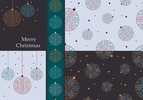 Colorful Christmas Ornaments Vector Wallpaper Pack