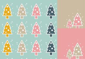 Simple Christmas Tree Vector Wallpaper Pack