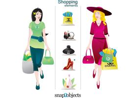 Vector Shopping elements