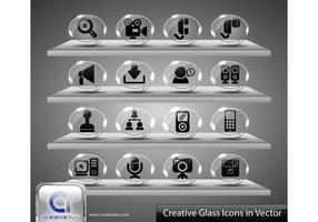 Creative Glass Icons