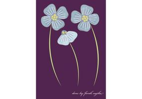 Flower Vector - Polka Dot Flowers