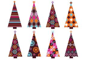 Patterned Christmas Tree Vector Pack