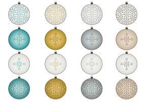 Snowflake Christmas Ornament Vector Pack