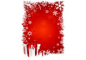 Red Christmas Wallpaper Vector
