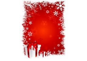 Red Christmas Wallpaper Vector