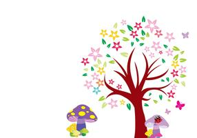 Arbol Blooming Tree Vector