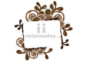 Brown Grunge Banner Vector