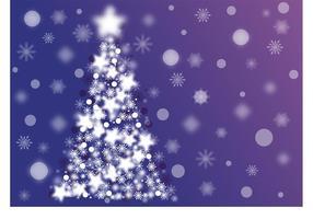 Sparkle Christmas Tree Vector
