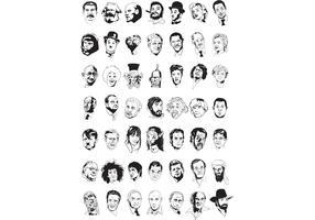 Sketchy Faces Vectors
