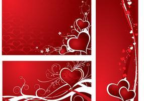 Holiday Hearts Wallpaper Vector Pack