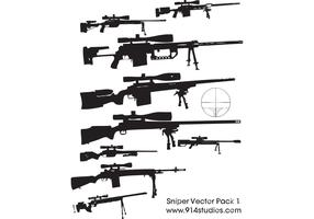 Gun Vector Sniper Rifle Pack #1