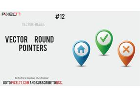 Free vector round pointers