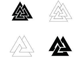 Symbol Vector 4 Simple Valknut Designs