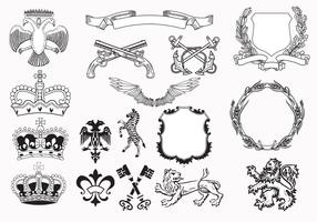 Heraldry Vector Elements Pack