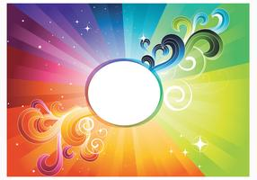 Rainbow Abstract Wallpaper Vector