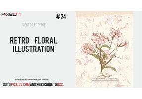 Free Retro Floral Illustration