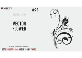 free vector flower silhouette