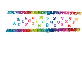 rainbow letters 3d