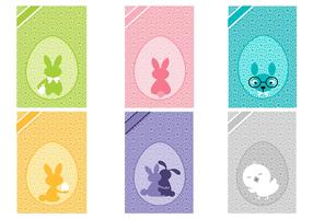 Easter Card Background Vector Pack