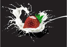 Morango com leite