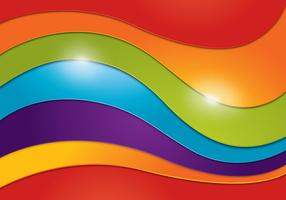 Wavy Rainbow Background