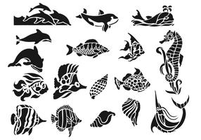 Sea Life Animal Vector Pack