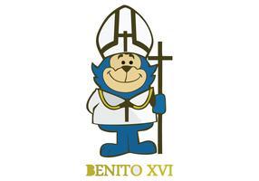 Benito xvi Cartoon Vector